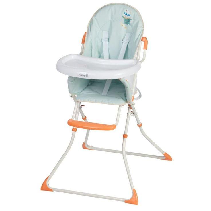 Adjustable Baby High Chair Infant Seat Child Toddler Safety Harness White Green #AdjustableBabyHighChair