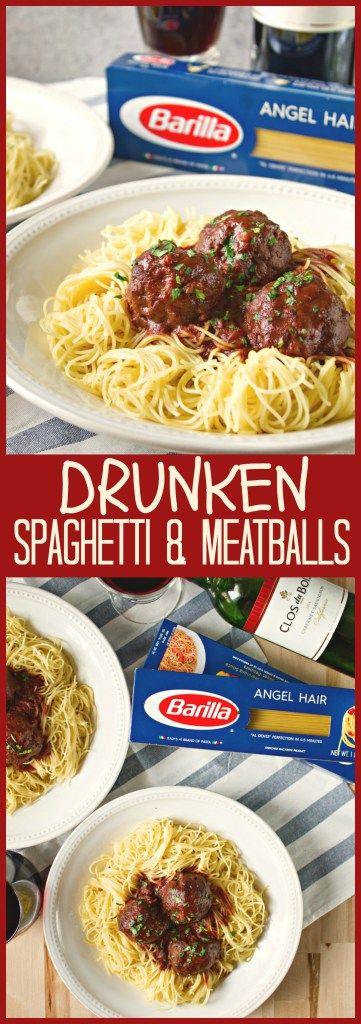 Msg 4 21+ drunken-spaghetti-and-meatballs #barilla #talkofthetable #closdubois #ad