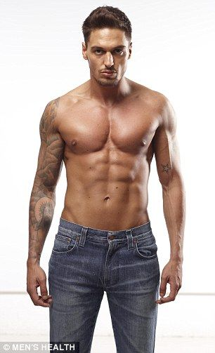 Ripped: Mario Falcone had relaxed his usual gym routine, but quickly regained his six-pack