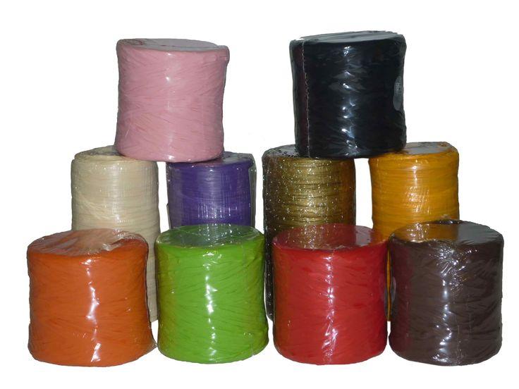 Cinta de rafia decorativa, 21 colores disponibles, raphia 5401 rollos de 200 metros.