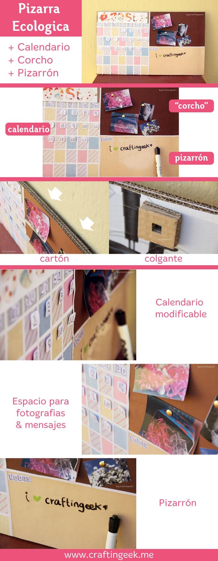 Haz una pizarra ecologica con un rea para calendario corcho y pizarr n tutorial gratis http - Pizarra calendario ...