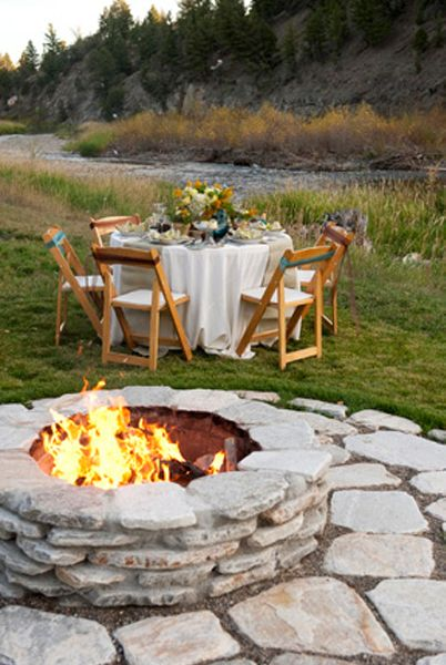 above ground firepit-Jon I think they must have drove by our yard in Columbus and got this idea