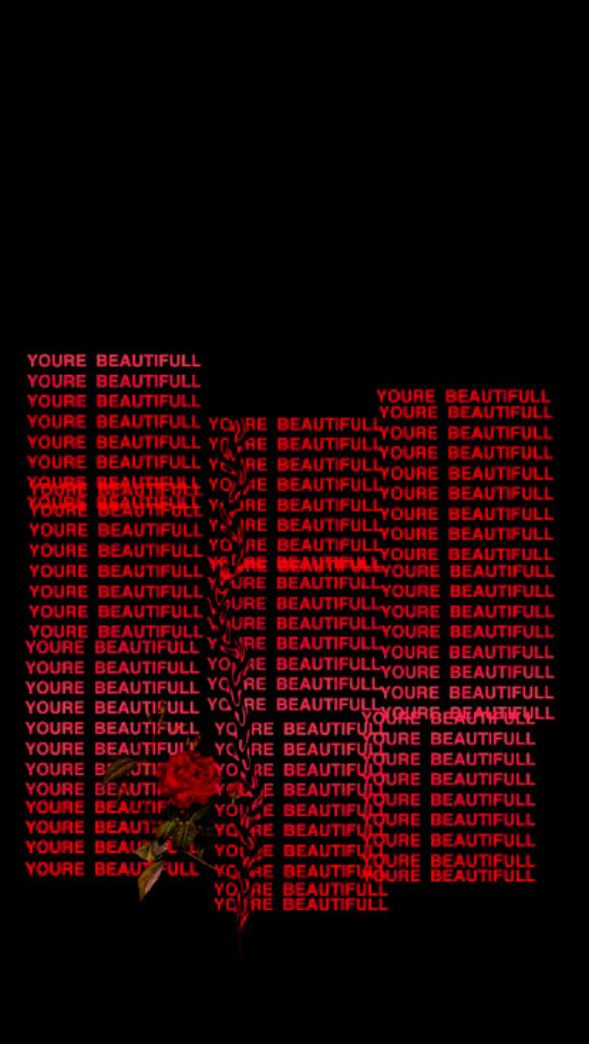 You Are Beautiful Wallpaper Follow For More Edgy Wallpaper Black Aesthetic Wallpaper Aesthetic Tumblr Backgrounds