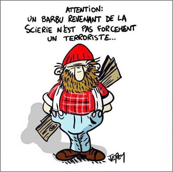 Un barbu qui revient de la scierie ?