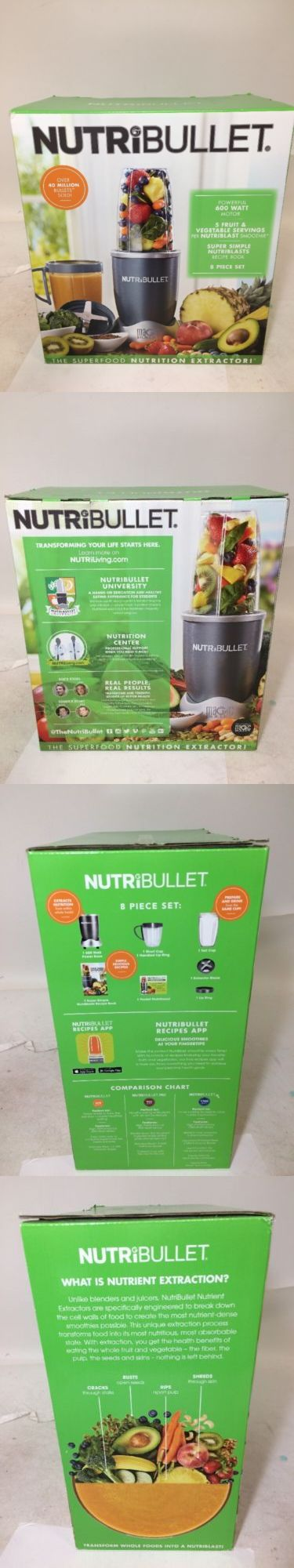 Blenders Countertop 133704: Nutribullet 600W Nbr0801 8Pcs Extractor And Blender Set Freeship, Free Ship -> BUY IT NOW ONLY: $53.89 on eBay!