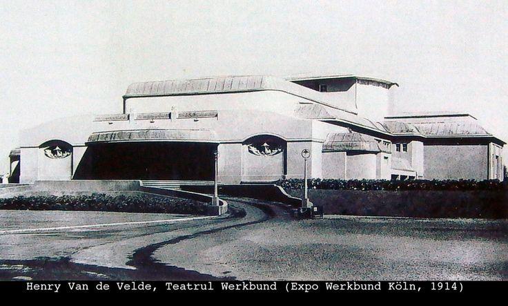 Henry Van  de Velde. Teatrul Werkbund -Expo Werbund Koln 1914