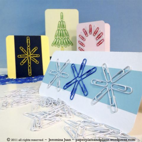 paper clip design christmas cards