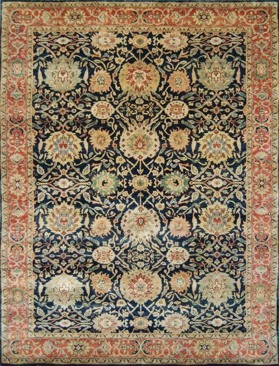 Rug 24 15 Hand Knotted Indian Tabriz Oriental 5
