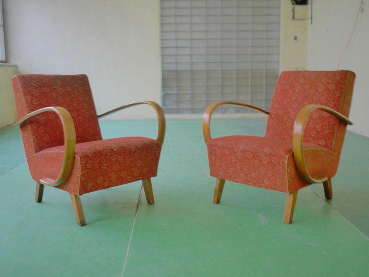 Vintage Pair of Czech Halabala Lounge Chairs | eBay