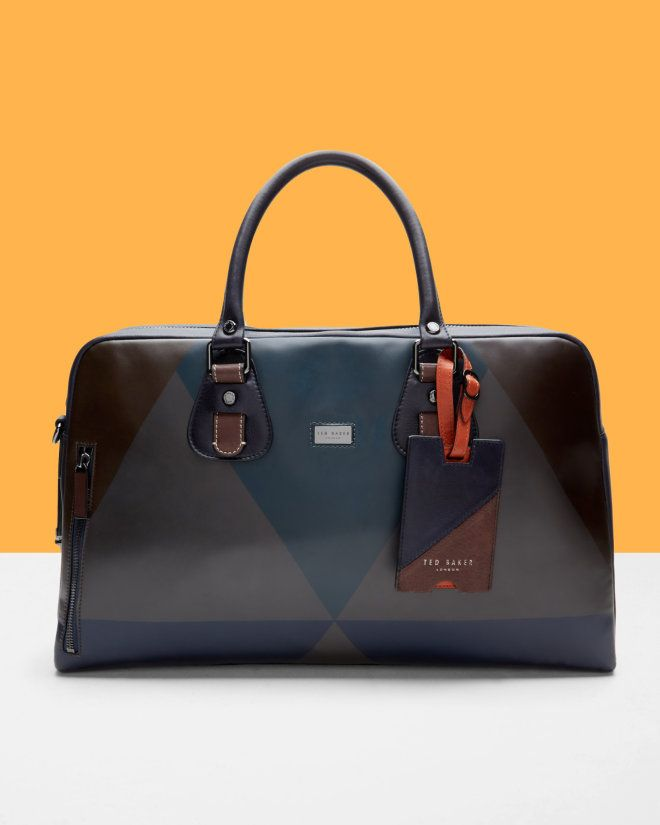 Printed leather bowling bag - Brown | Bags | Ted Baker