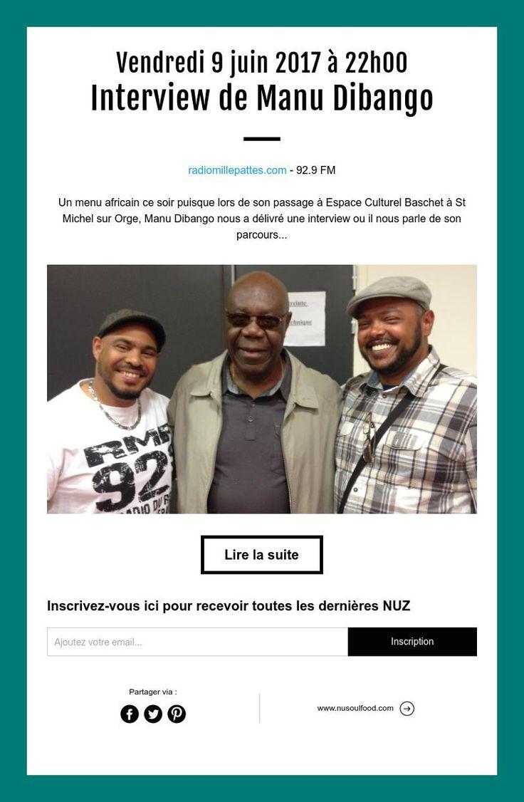 Vendredi 9 juin 2017 à 22h00  Interview de Manu Dibango