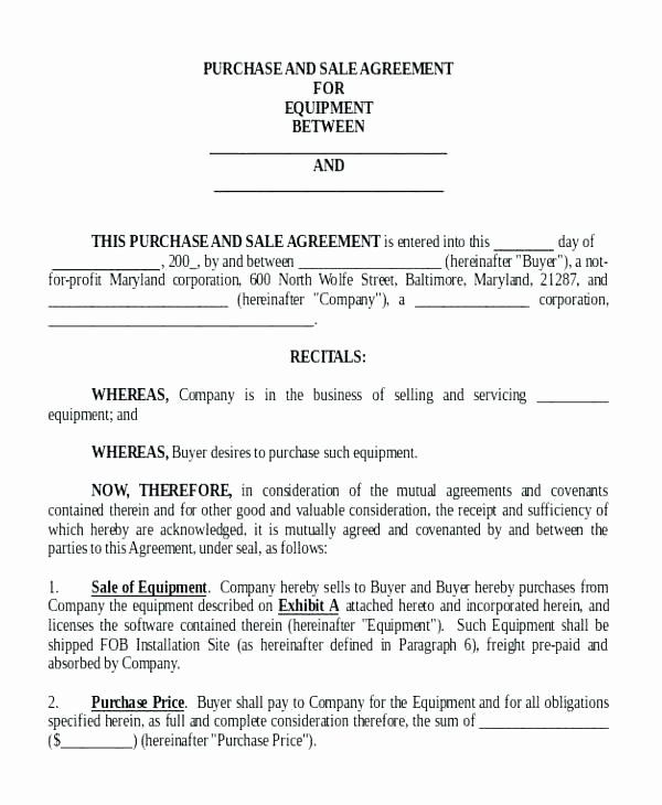 Business Sale Contract Template Best Of Mission Agreement