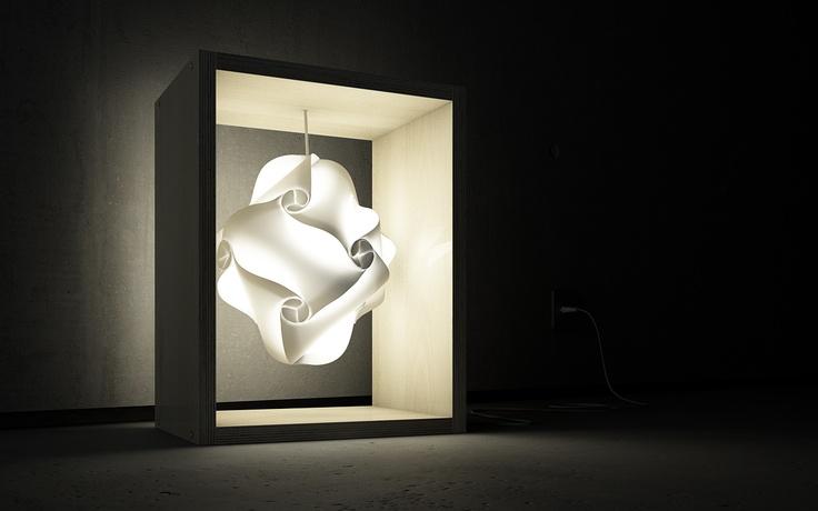 9 piezas de polipropileno para obtener esta lámpara sencilla pero preciosa.