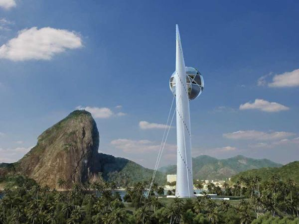 Luis de Garrido has designed a mixed-use telecommunications tower that could be used at the 2014 World Cup and 2016 Olympic Games in Rio.