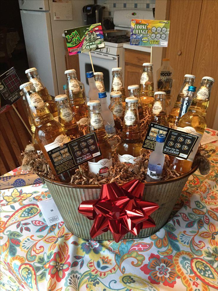 21st Birthday Gift Baskets For Him : Best ideas about st birthday basket on