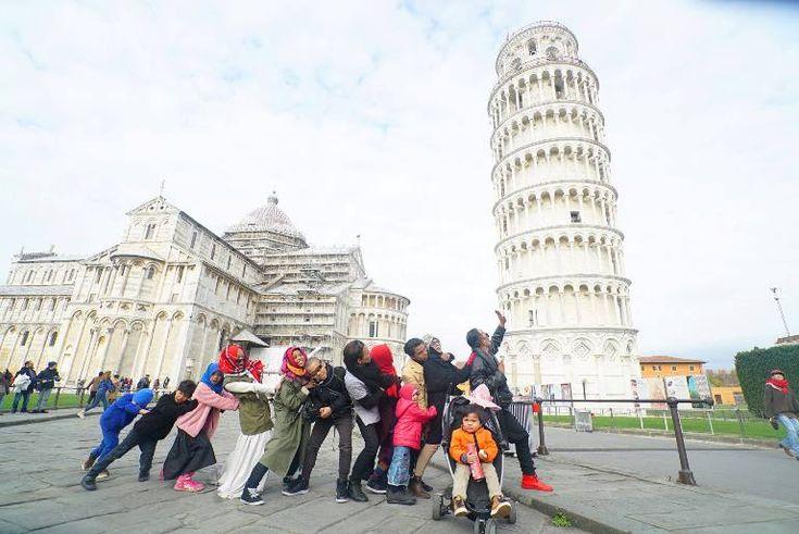 Keluarga Gen Halilintar keliling dunia dengan 11 anak nya