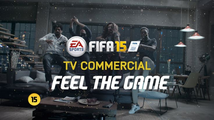 FIFA 15 - Official TV Commercial FIFA 15 - Official TV Commercial EA SPORTS FIFA Published on Sep 12, 2014  Feel The Game in the official FIFA 15 TV commercial.  Out 23 September North America. 25 September Europe. 26 September UK. Xbox One, PS4 and PC. Also available on Xbox 360, PS3 and other platforms.