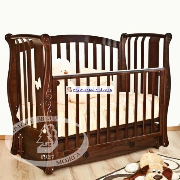 Детская кроватка Можга (Красная Звезда) Ярослава С 551 (продольный маятник)
