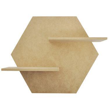 Kaisercraft Hexagon Shelf Natural