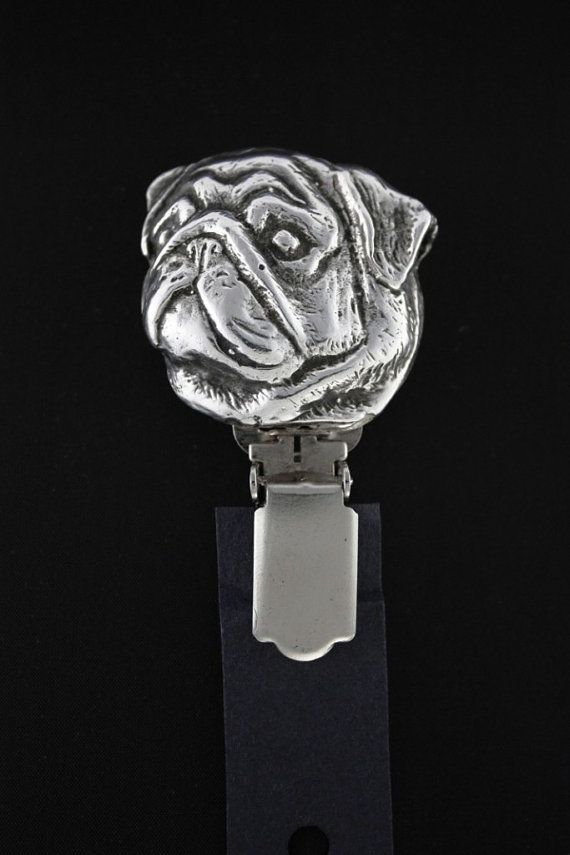 Pug dog clipring dog show ring clip/number by ArtDogshopcenter