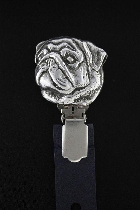 Pug dog clipring dog show ring clip/number by ArtDogshopcenter