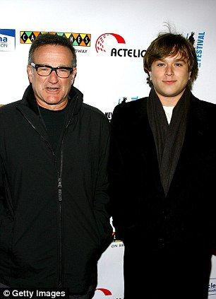 Robin Williams with his son Cody Williams (pictured in 2007)