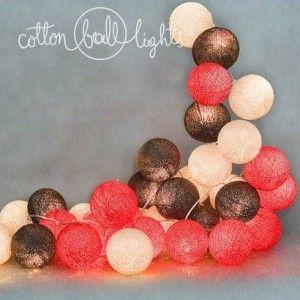 Warm red - zestaw Cotton Ball Lights https://ekotechnik24.pl