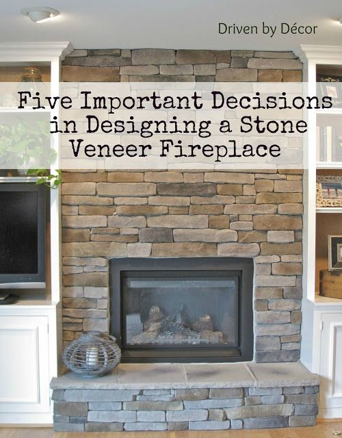 Stone fireplace makeover and Fireplace mantle