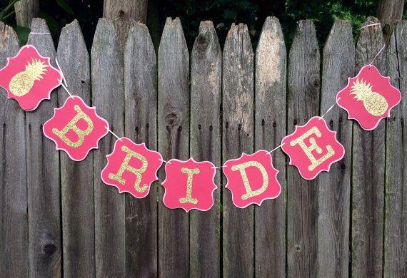 Bride Banner for Luau Bridal Shower by Nostresspartyforless