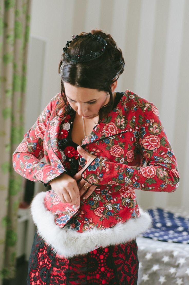 Non-traditional bride, unwedding. Black and red wedding dress. Julia Lillqvist | Mats and Corinna | http://julialillqvist.com
