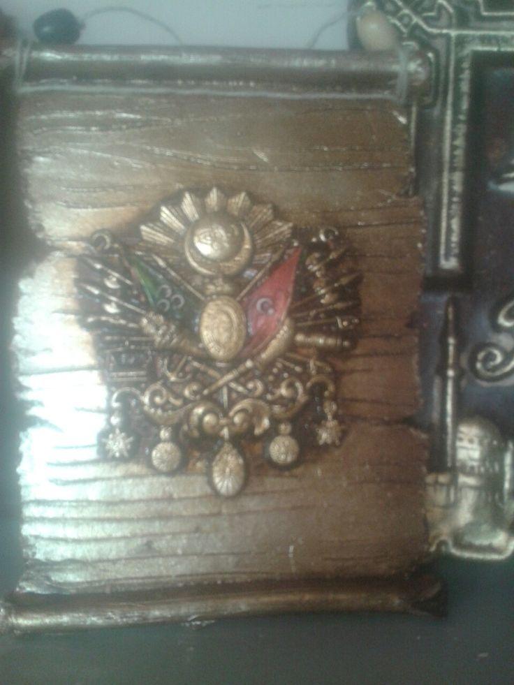 Seramik Osmanlı Devlet Arması (ferman)