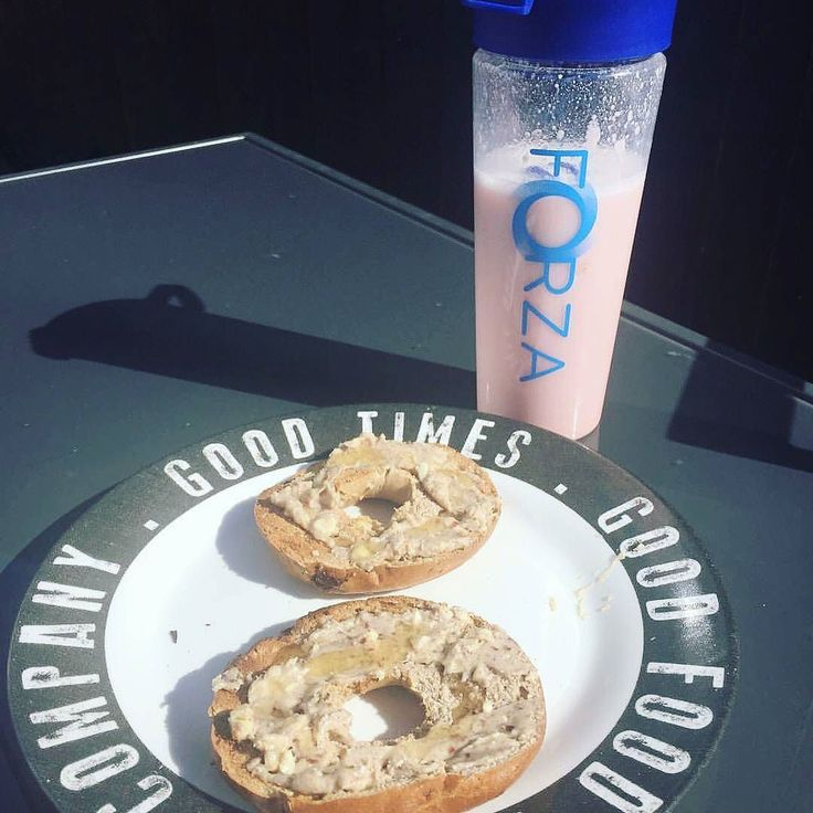 Post workout shake and bagel at the ready? Keep your body fuelled with the right foods you'll thank yourself later!  _ Shop by clicking the link in the bio @foreverforza.au
