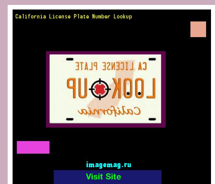 Free California License Plate Number Lookup | Search For Free