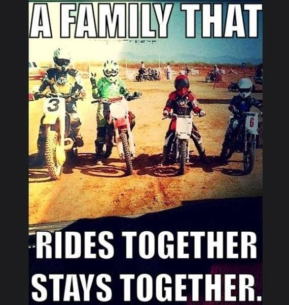 Do your family ride together?