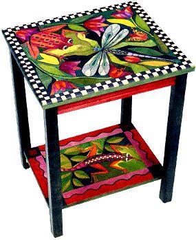 Helen Heins Peterson, Modern Folk Art, Whimsical Primitives, Hand Painted Furniture & Woodworks