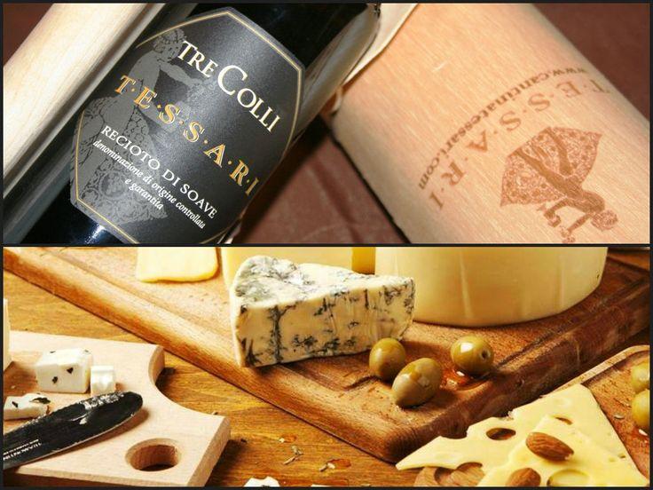 Recioto di Soave Tre Colli e Gorgonzola Cheese This pairing remind us Autumn.. Have you ever tried it? Leave a comment and happy Saturday night! http://bit.ly/1FbwDiJ  #recioto #soave #tessari #tessariwithedots #gorgonzola #cheese #food #wine #winelover