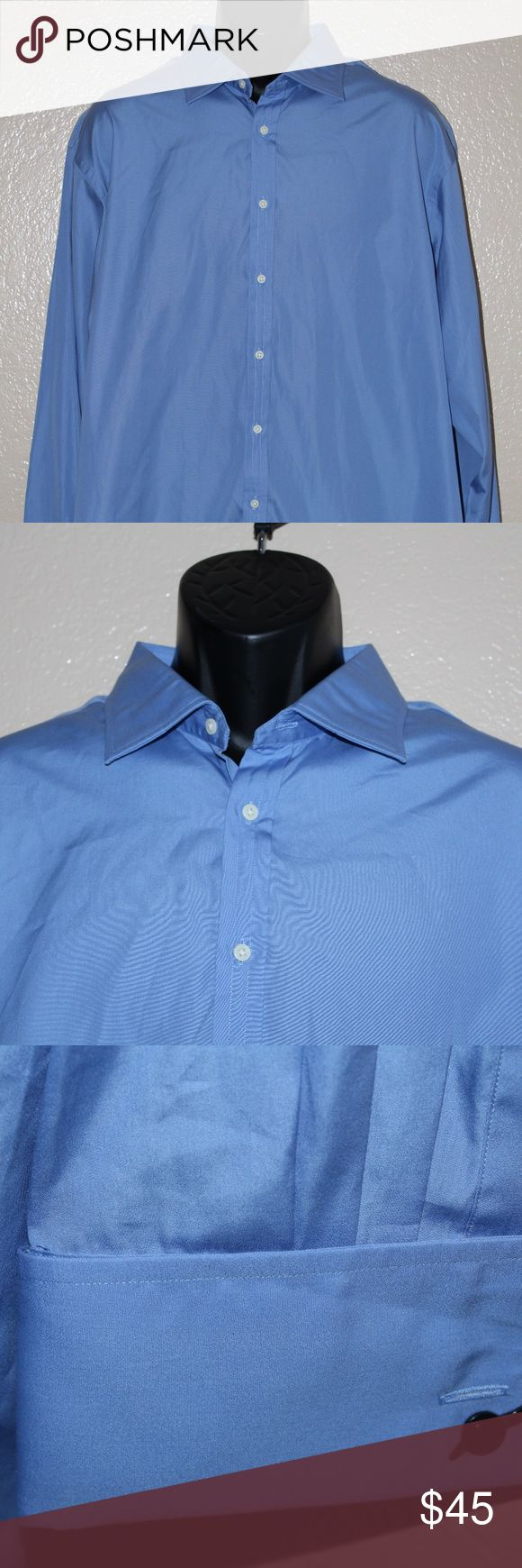 THOMAS PINK JERMYN STREET Traveller Sz 18/37 46/94 Pre-owned THOMAS PINK JERMYN STREET Traveller Solid Blue Dress Shirt SIZE 18/37 46/94 CM   Excellent condition! No stains, No tears.   Sleeve Length:Long Sleeve Color:Blue Country/Region of Manufacture:Thailand Pattern:Solid Brand:Thomas Pink Size Type:Regular Dress Shirt Size:18/37 46/94cm Material:100% Cotton Fit:Classic Fit Thomas Pink Shirts Dress Shirts