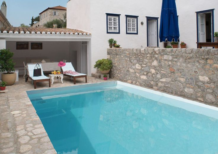 www.VillaAltheaHydra.gr Villa Althea holiday house with swimming pool to rent for holidays in Hydra Island Greece.