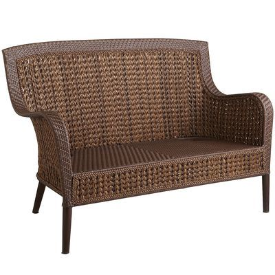 Antigua bay settee looks comfy for porch seating for Antigua wicker chaise