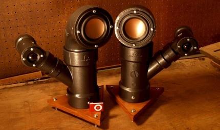 Ikyaudio Steam Pipes Audio Speakers on Etsy - super cool