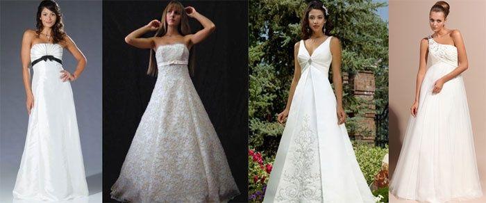 свадебные платья для второго триместра беременности