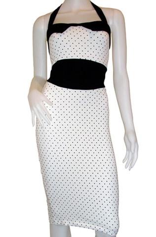 Atomic White Candy Rockabilly Dress