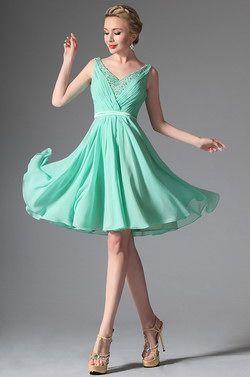 eDressit 2014 New Light Green V-cut Cocktail Dress Party Dress (04146604)