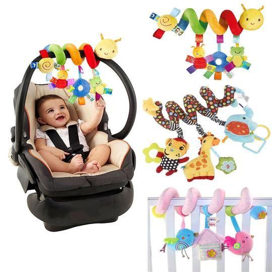 Infant Baby Crib Cot Pram Spiral Bed Hanging Rattles Stroller Ringing Bell Toys