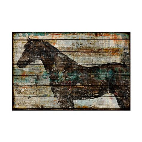 would be a great idea for a headboard for my horse crazy daughter.