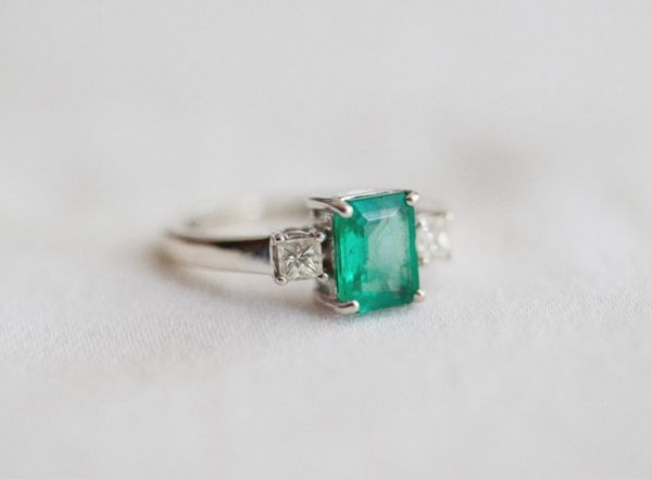 green engagement ring // photo by JoshGruetzmacher.com