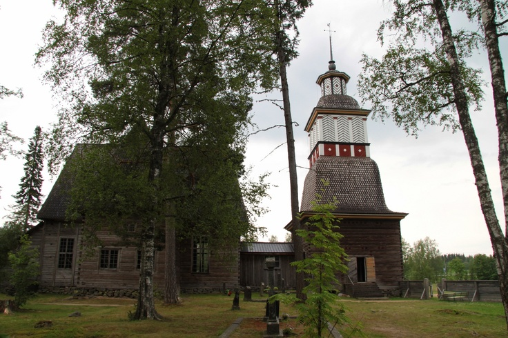 Petäjävesi (Finland) old church, built 1763-1765. UNESCO world heritage site since 1994.