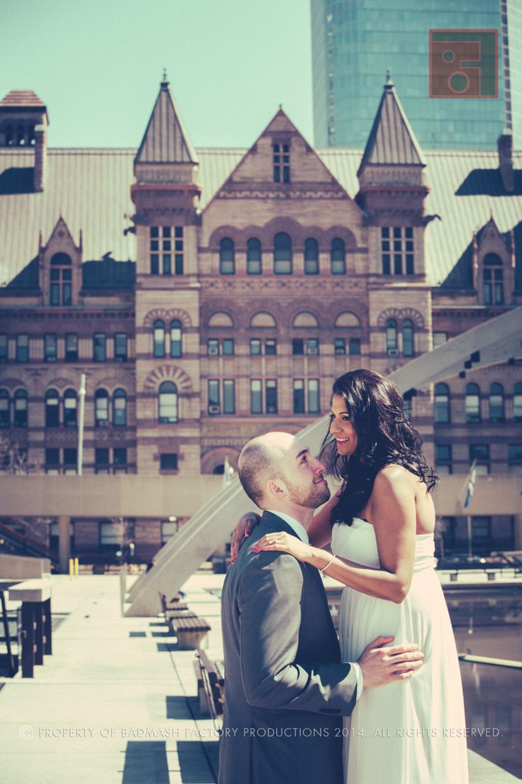 Wedding Engagement Photo and Video Studio, Nathan Phillips Square in Toronto, ON