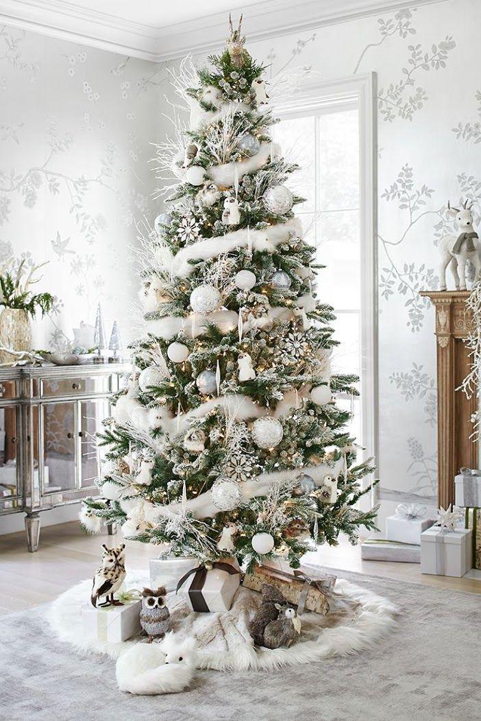 Как украсить елку на Новый год 2017: обзор лучших трендов праздничного декора и идеи своими руками http://happymodern.ru/kak-ukrasit-elku-na-novyj-god-2017/ Красивая высокая ёлка в снежной мишуре