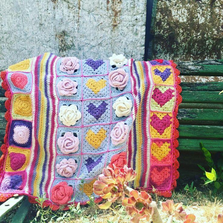 crochet bebe tricot blanket shabby chic. uncinetto bebe copertina carrozzina